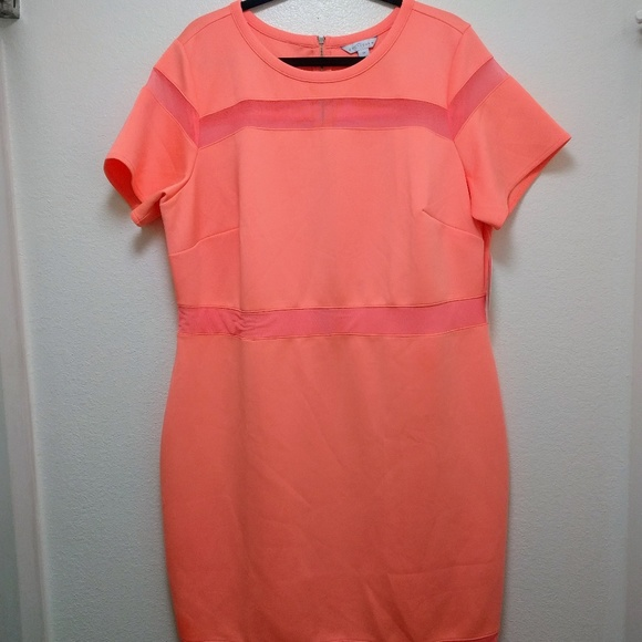 Boutique Plus Size Dress 2x Vacation Coral NWT